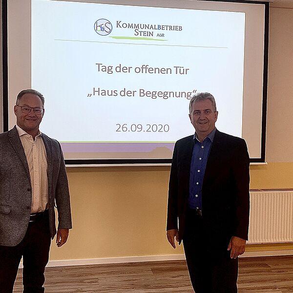 Klaus Heinrich und Kurt Krömer im Haus der Begegnung